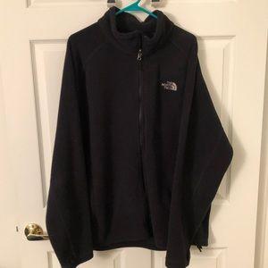 The North Face Fleece Zip Up Jacket - XXL - Black